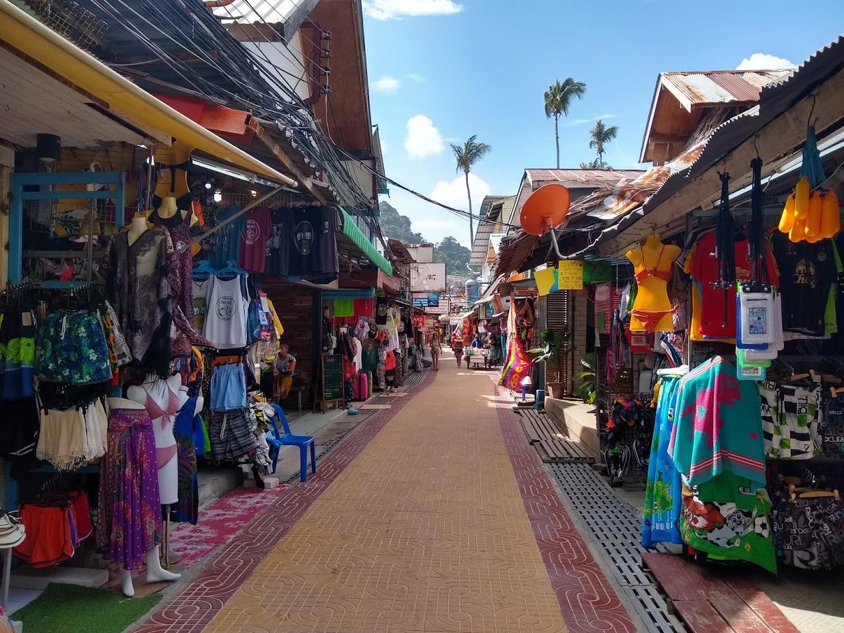 lots of shops in koh phi phi
