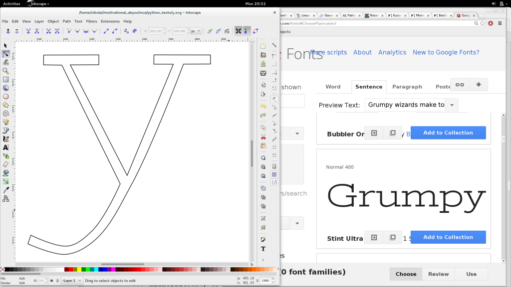 fine-tuning the glyph